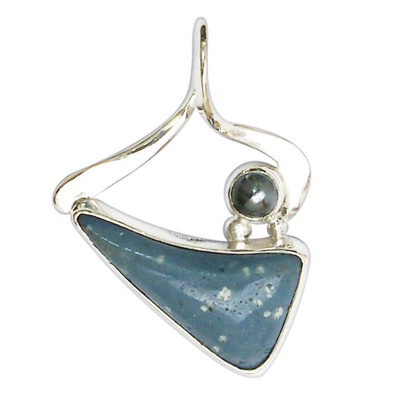 Leland Bluestone, Hematite and Sterling Silver Pendant  plbsg3028