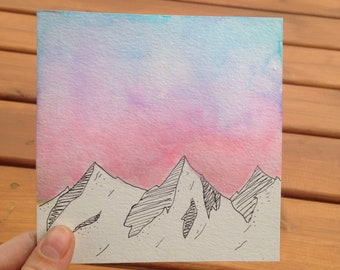 Morning sky watercolor