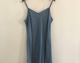 Vintage gap denim slip dress size med
