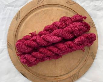 Boysenberry - - MisTori Yarns Sparkle Minis - 75/20/5 Superwash Merino/nylon/Stellina - 87 yards/ 20 gram skein