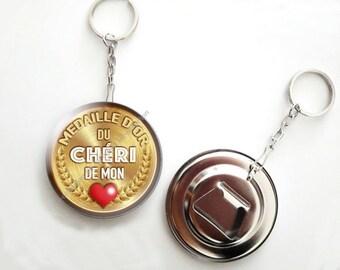 Keychain bottle opener - 56mm - dear to my heart
