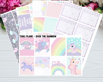CLEARANCE! Weekly planner sticker kit: Over the rainbow - erin condren vertical