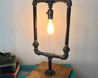 Large Industrial Steampunk Lamp With Edison Bulb