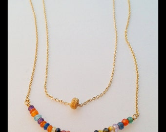 Simple Gold Filled Stardust Necklace.