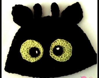Toothless Dragon Hat Pattern