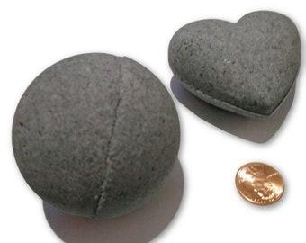 Charcoal Detox Bath Bombs Dark Bath Fizzies Coconut Oil Lavender Set of 2