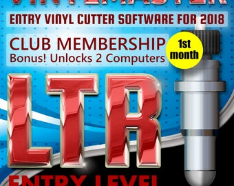 Vinyl Cutting Craft Software VinylMaster LTR Subscription (1st Month) Unlock 2 PCs Make Tee-Shirts, Signs, Logos, Shapes, Banners etc.