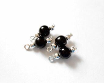 Black Dangle Beads