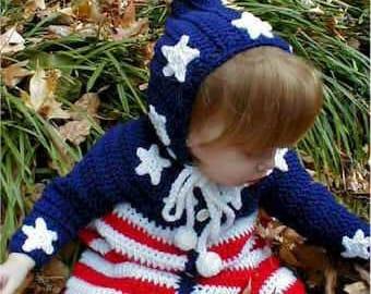 Patriotic Baby Bunting Crochet Pattern PDF