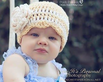 Crochet Patterns - Crochet Pattern Hat - Crochet Patterns - Crochet Pattern Baby - Flower - Baby, Toddler, Child, Adult Sizes - PDF 261