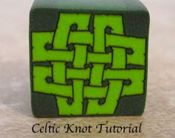 Celtic Knot polymer clay cane tutorial