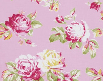 Pink Sunshine Roses pwtw068Pink  Cotton Fabric by Tanya Whelan FreeSpirit Sunshine Rose