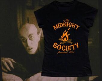 Women's - T Shirt - Tank Top - Midnight Society - Are You Afraid Of The Dark? - 90s - Nickelodeon - Nicktoons - Classic