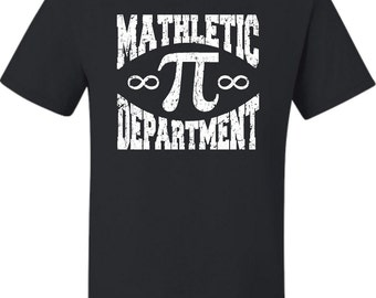 Adult Mathletic Department Funny Geek Nerd Mathlete T-Shirt