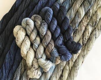 Quintet Gradient Yarn set- Monsoon - Choose your base