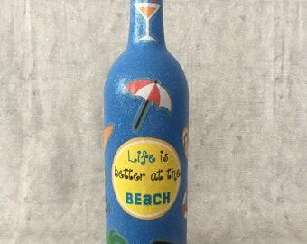 Beach Wine Bottle