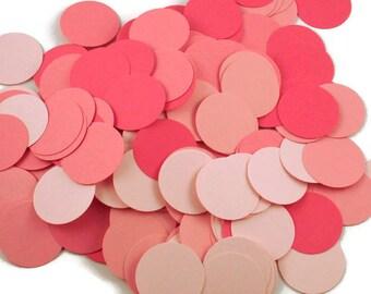 Funfetti Confetti  Large Dots in Pink Pop Quantity 250