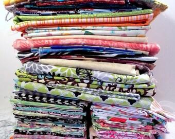 FAT QUARTER Stash Builder Fabric Grab Bag buy More & save Dots Stripes Tribal Geo Random New Fat Quarters of 100% Cotton Quilting Fabric FQ