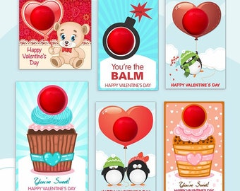 Valentine's day EOS lip balm | INSTANT DOWNLOAD