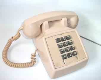 Vintage Push Button Telephone, WORKS, Vintage Phone