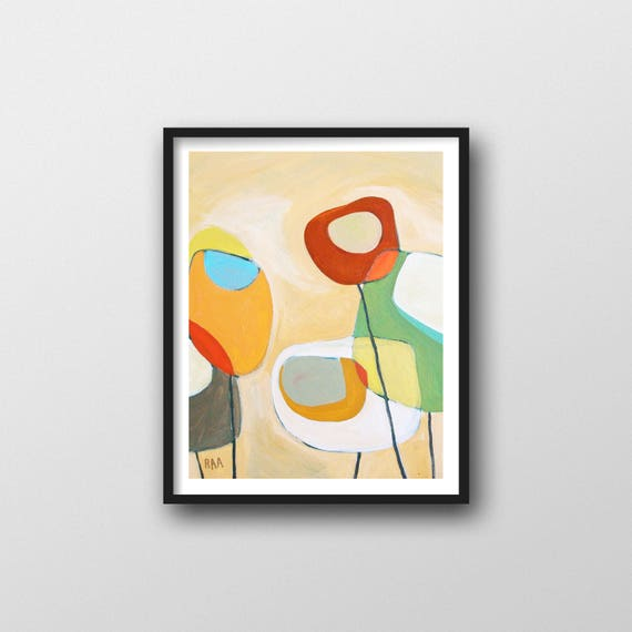 Abstract Art Print for Modern Gallery Wall or Mid Century