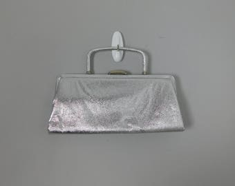 1950's 60's Atomic Age Metal Look Evening Bag or Purse by Bobbie Jerome CB1