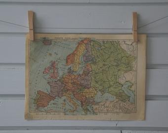 1934 Vintage Map of Europe