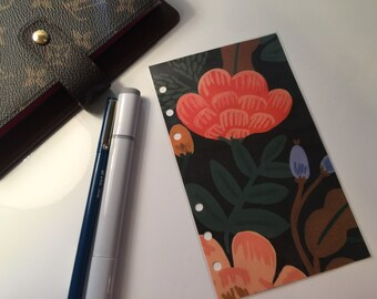 Autumn Floral Planner Insert, Personal or A5