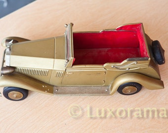 gold rolls royce car music box toy vintage model How Dry I am,  alcohol window display  point of purchase