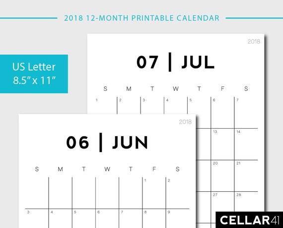 calendar by month printable
