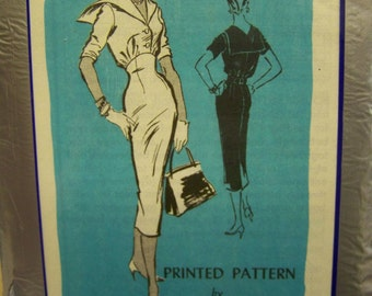 Vintage 1950s Prominent Designer A516 ANTONELLI - KLEIBACKER Dress Mail Order pattern sz 12 UNused