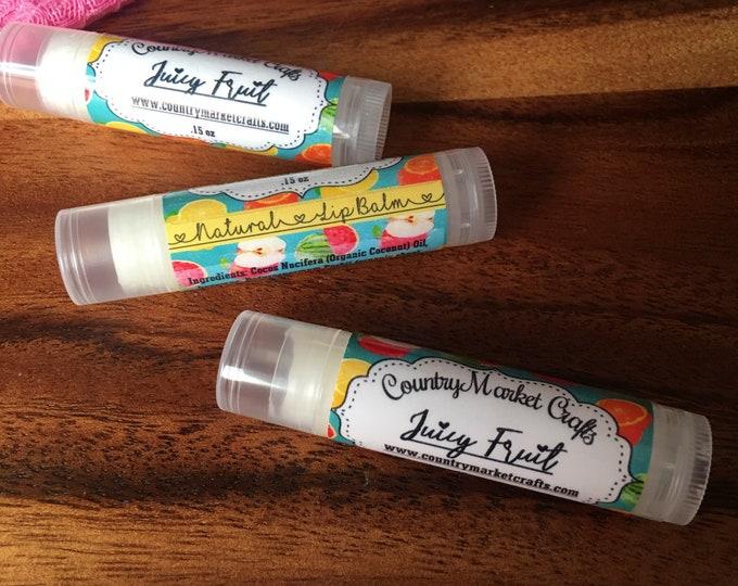 Juicy Fruit Lip Balm Natural Bees Wax Lip Balm