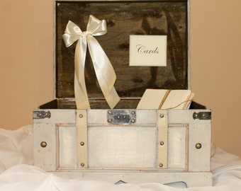 DIY Wedding card trunk / DIY Wedding decor / Wedding card box / Rustic card holder / Large wedding trunk / Vintage wedding / Trunk card box