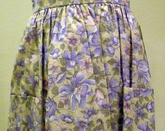 Girls Dress / Jumper with Lavender floral Print - size 6X