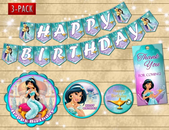 Version Aladdin Birthday Etsy