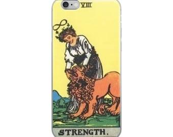 Tarot iPhone Case Strength tarot card