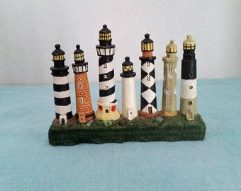 Ceramic Row of Lighthouses