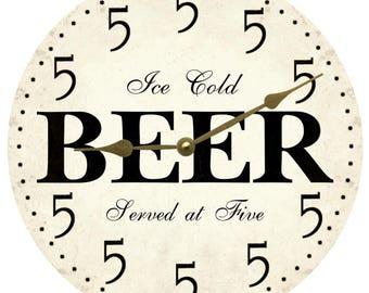 It's Five Somewhere Wall Clock- Beer Clock