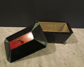 Vintage Footed Stone Box