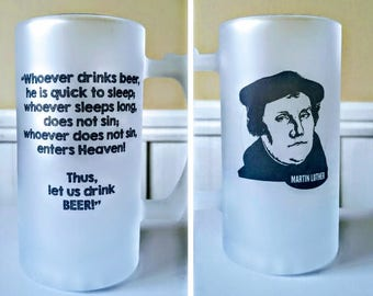 Martin Luther Frosted Beer Stein