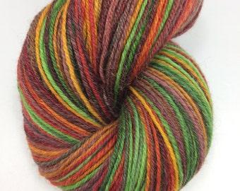 "Handspun Sock Yarn ""Not Straightforward"" 450 yds SW Merino Alpaca Silk Nylon nply"