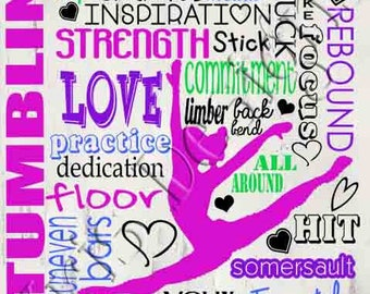 All About a Gymnast (name left blank to personalize) SVG JPG PNG