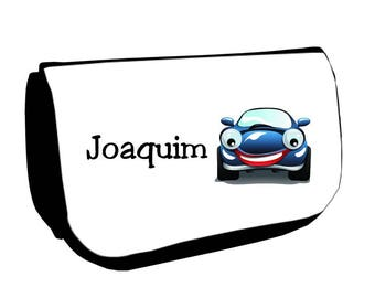 Black cosmetic case /crayons car personalized with name