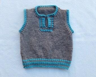 Vest Baby Boy/Sweater Vest Baby/Jumper Vest/Waistcoat/Baby/Girls/4 months /5 months /6 months/7 months/8 months/9 months/Pullover Vest Baby