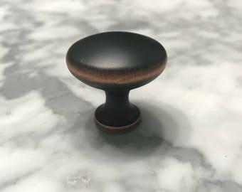 Bronze Metal Knob Round Dresser Drawer Replacement Hardware, Cabinet Pull, Knobs, Craft Supply, Item #596016399