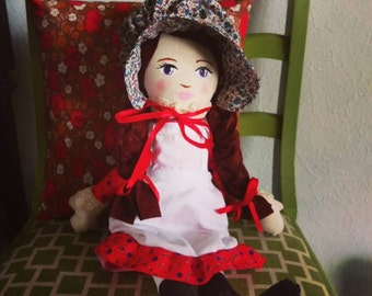 Little House on the Prairie Doll, Laura Ingalls Doll, Laura Ingalls Wilder Doll, Pioneer Cloth Dolls