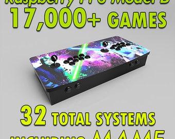 Bartop Multicade Arcade Machine, Raspberry Pi Game Box with Over 17,000 Games