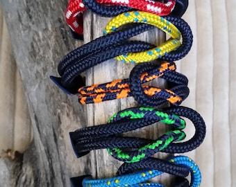 Pulsera Náutica Square Knot Bicolor - Nautical Bracelet