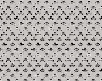 Happy Haunting Gray Skulls by Deena Rutter for Riley Blake Designs