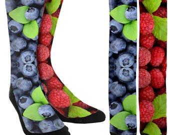 Fruits Crew Socks - Crazy Socks - Unique Socks - Novelty Socks - Cool Socks - Mens Novelty Socks - Womens Novelty Socks - FREE Shipping C14